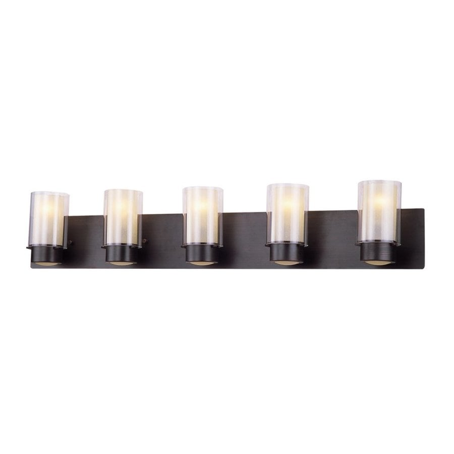 DVI Essex 5-Light 7.5-in Oil-Rubbed bronze Cylinder Vanity Light