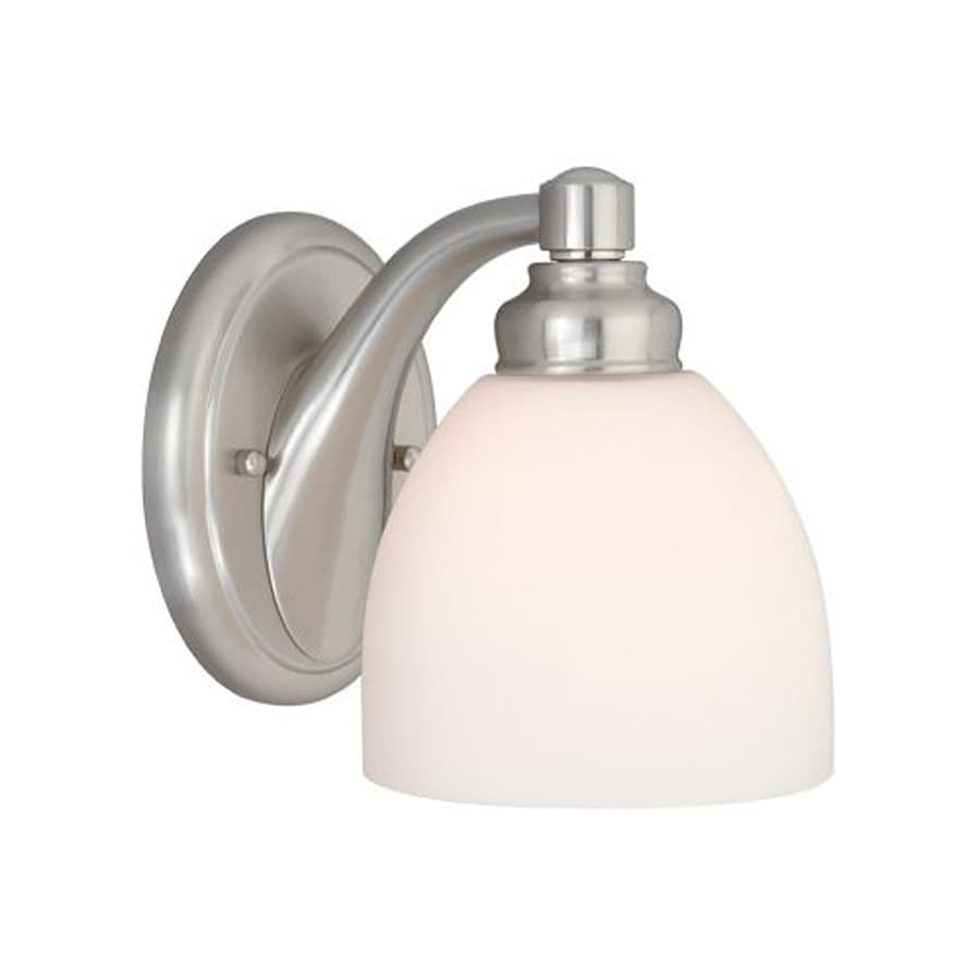 Cascadia Lighting Stockholm 1-Light 7.5-in Brushed nickel Bell Vanity Light