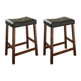 Crosley Furniture Set Of 2 Casual Classic Cherry Counter Stools