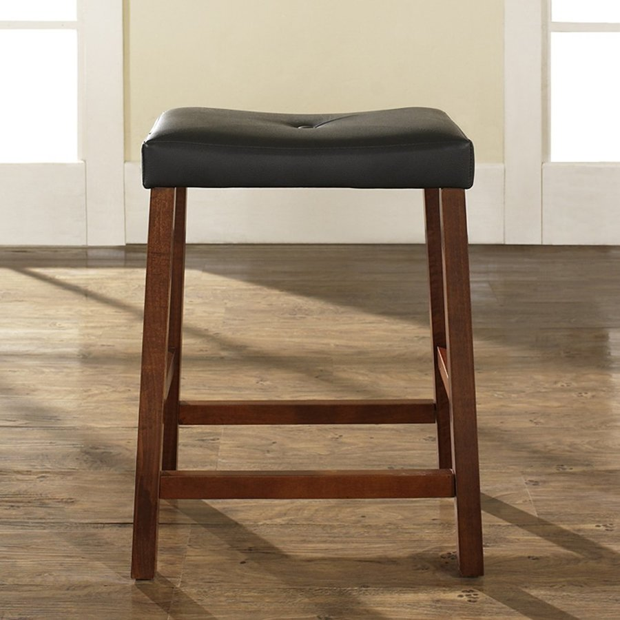 Crosley Furniture Set of 2 Vintage Mahogany 24-in Counter Stools