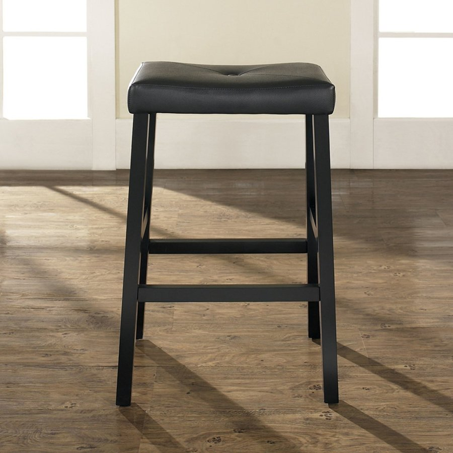 Crosley Furniture Set of 2 Black Bar Stools