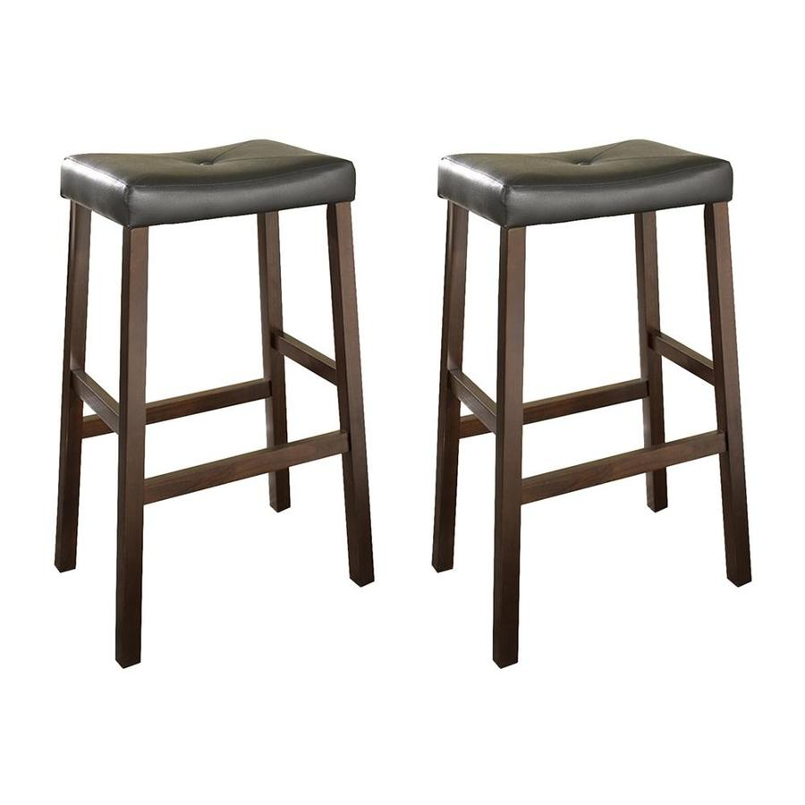 Crosley Furniture Set of 2 Vintage Mahogany 29-in Bar Stool
