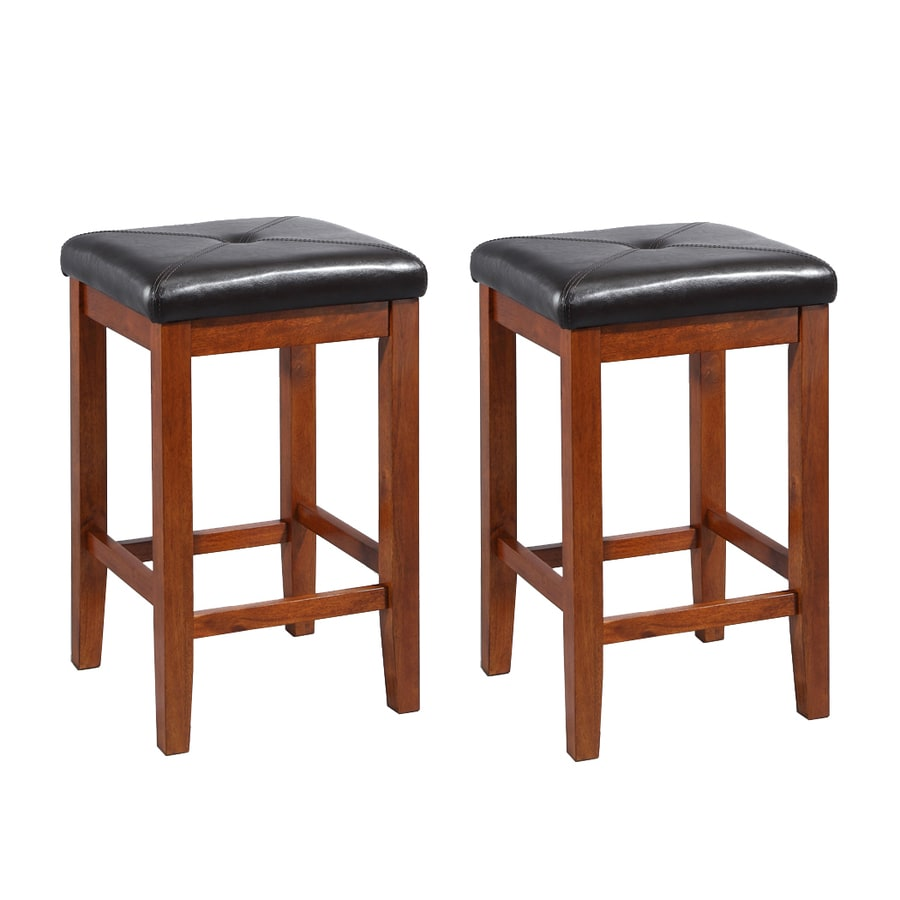 Crosley Furniture Set of 2 Classic Cherry 24-in Counter Stools