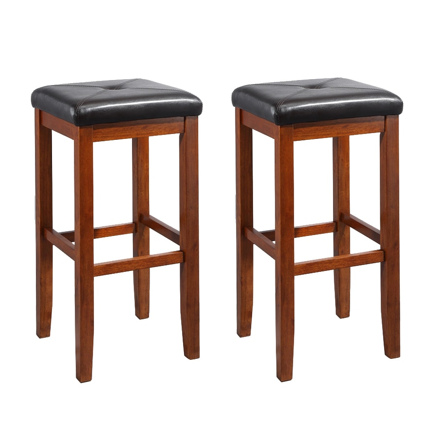 Crosley Furniture Set of 2 Classic Cherry 29-in Bar Stools