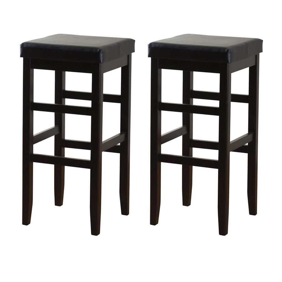 American Heritage Billiards Set of 2 Jensen Black 24-in Counter Stool