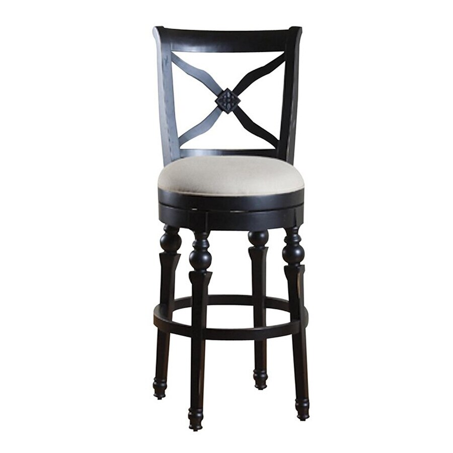 American Heritage Billiards Livingston Antique Black 30-in Bar Stool
