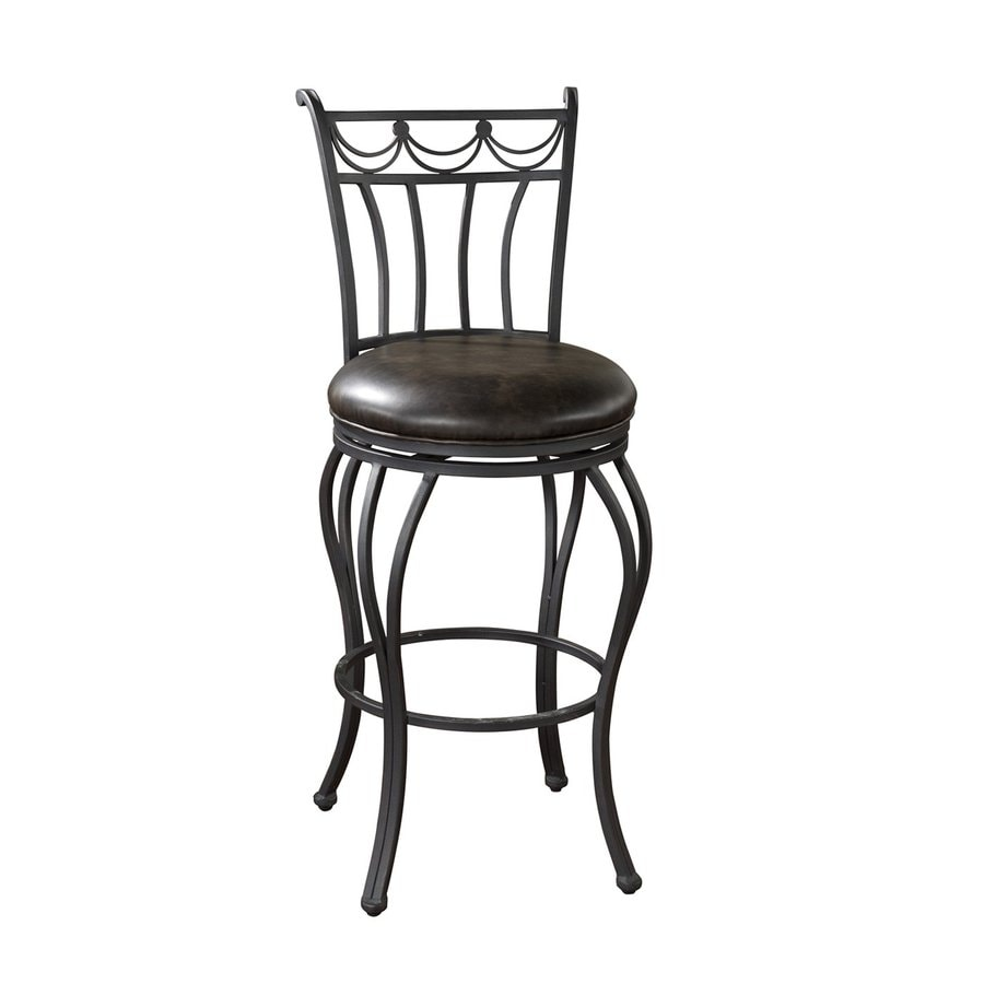 American Heritage Billiards Adana Aged Iron 30-in Bar Stool