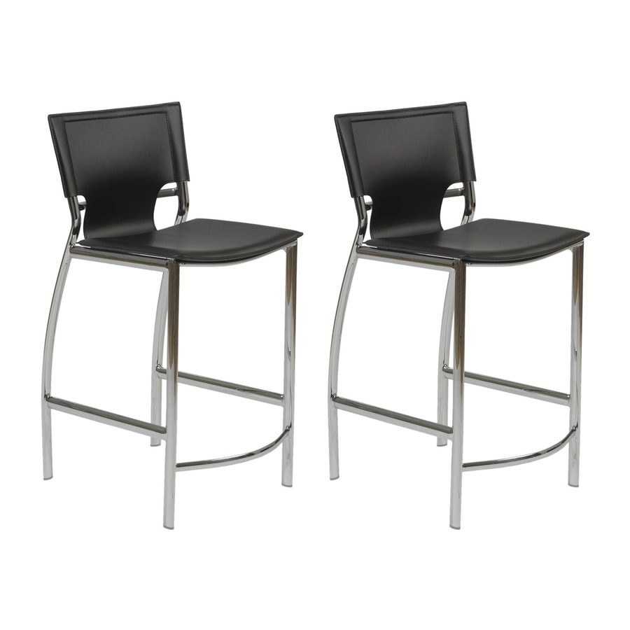 Eurostyle Vinnie Chrome Counter Stool