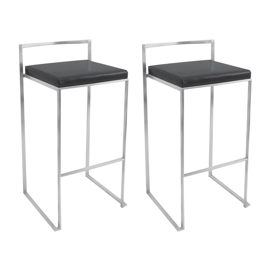 Lumisource Set of 2 Fugi Stainless Steel 30-in Bar Stool