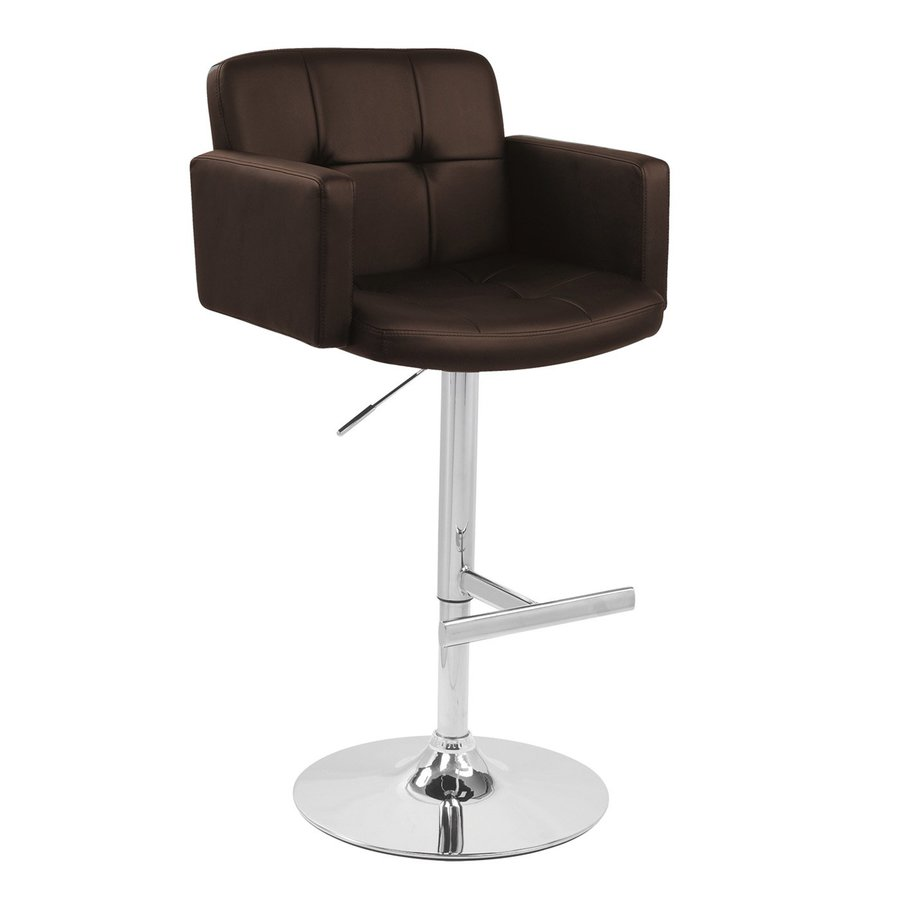 Lumisource Stout Chrome Adjustable Stool