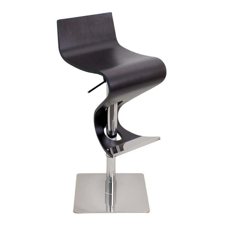 Lumisource Viva Chrome/Wenge Adjustable Stool