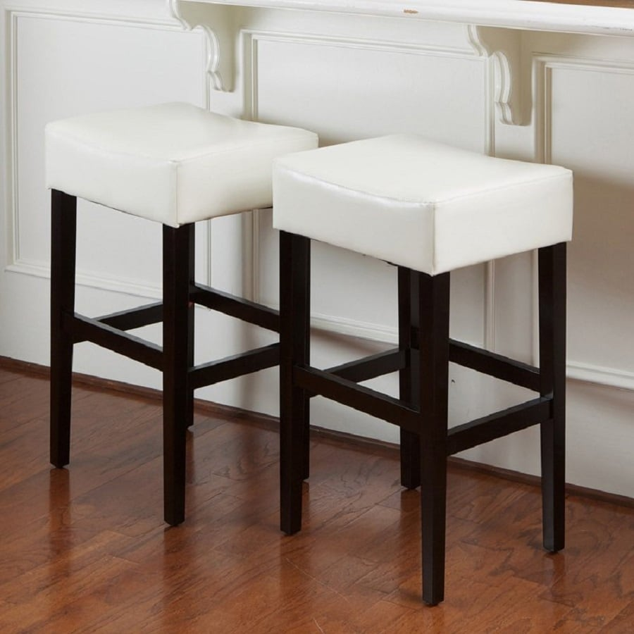 Best selling home decor kd set of 2 white espresso bar stools
