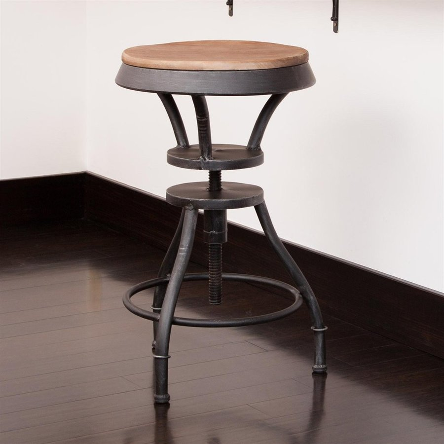 Best Selling Home Decor Lucian Natural 31.2-in Adjustable Stool