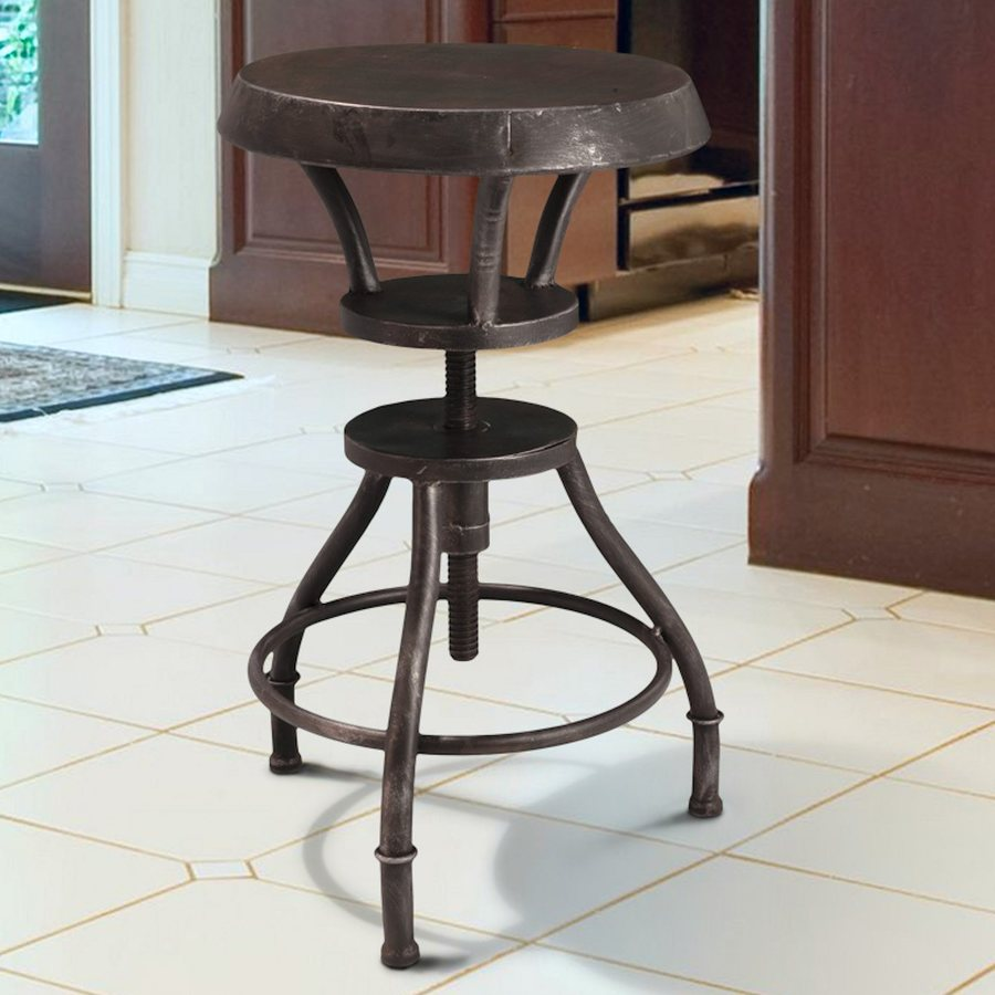 Best Selling Home Decor Lucian Grey Adjustable Stool