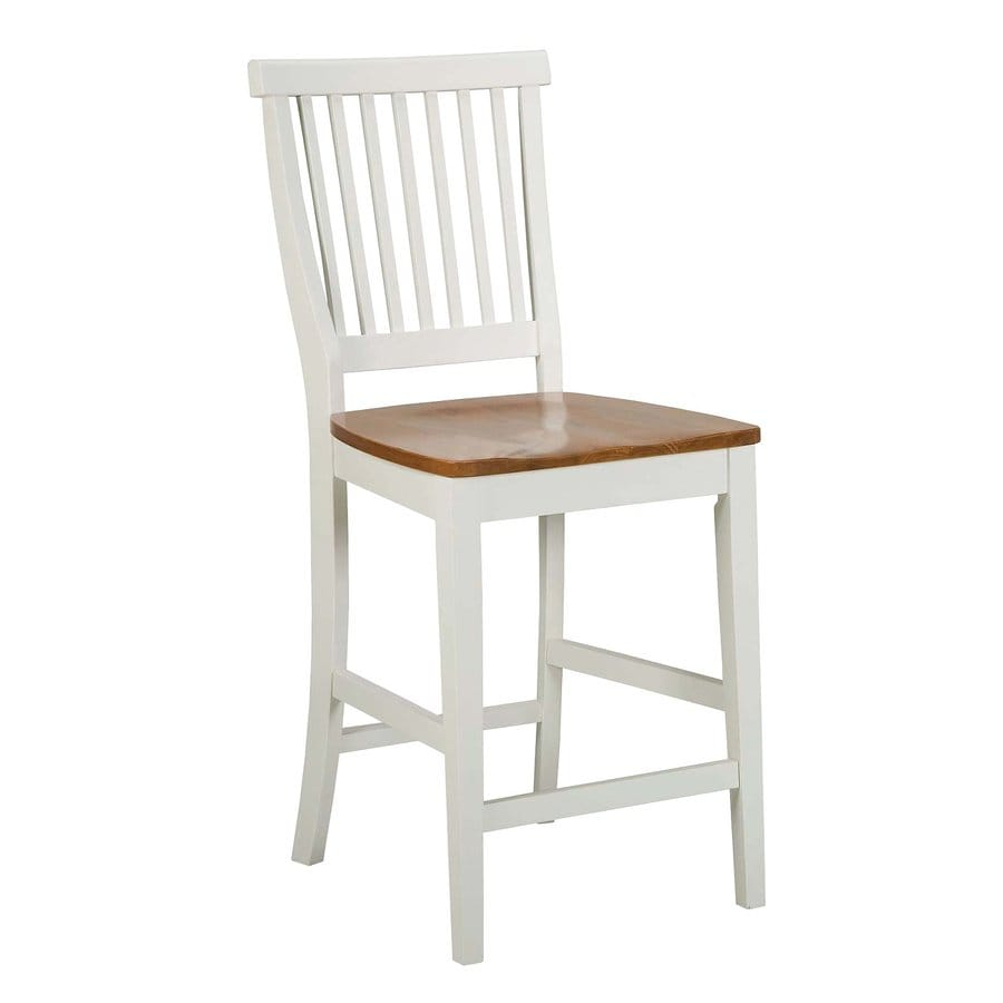 Home Styles White/Cottage Oak 24-in Counter Stool