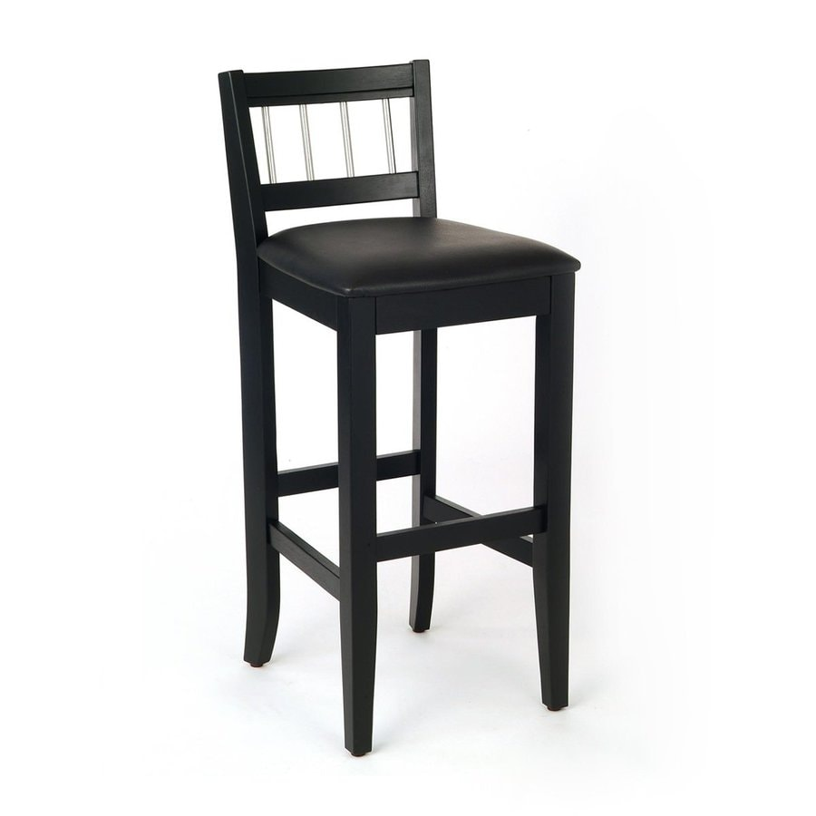 Home Styles Manhattan Modern Black Bar Stool