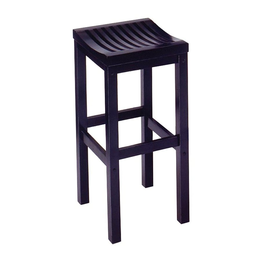Shop Home Styles Black 29-in Bar Stool at Lowes.com