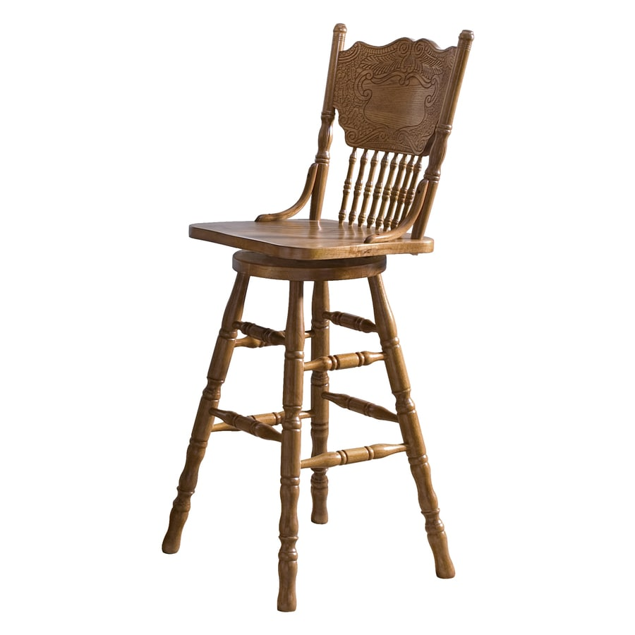 Shop liberty furniture nostalgia medium oak bar stool at