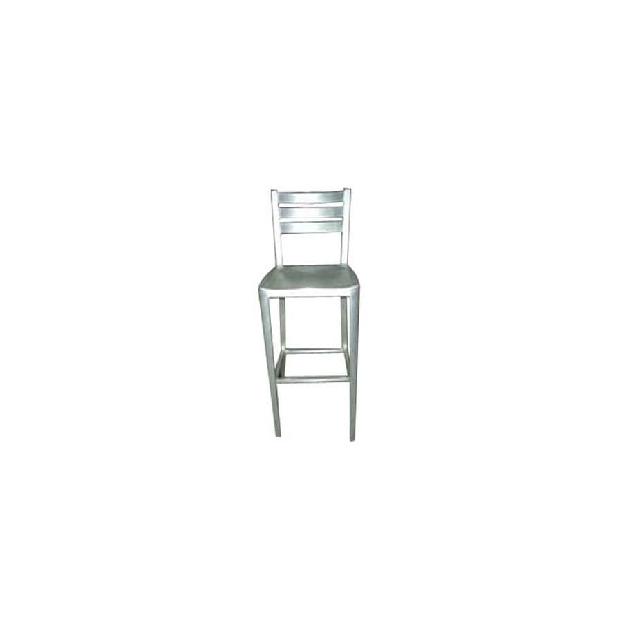 Alston Quality Industries Brushed Aluminum 30-in Bar Stool