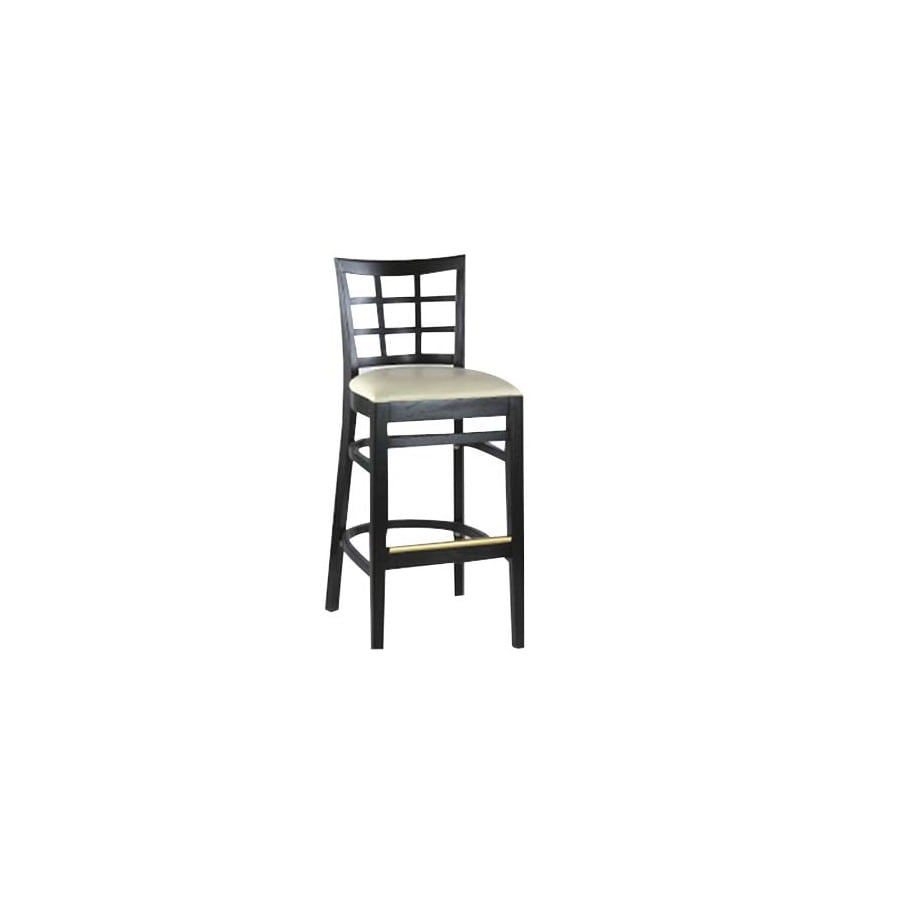 Alston Quality Industries Black 30-in Bar Stool