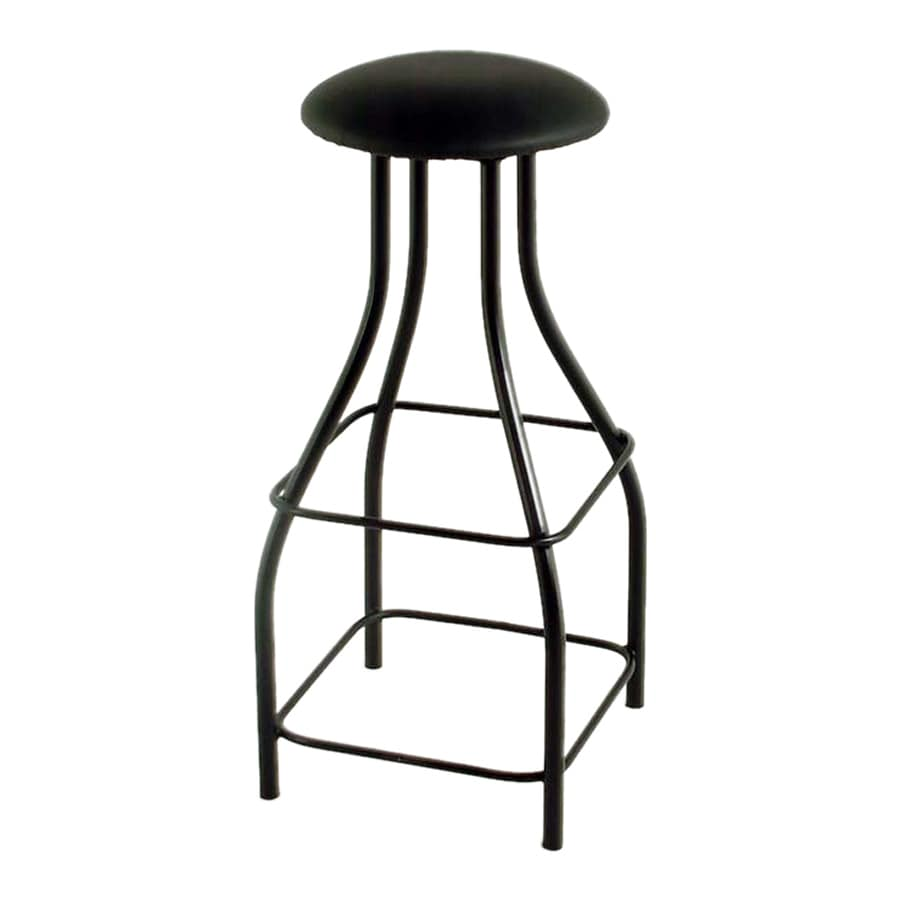 Grace Collection Contempo Satin Black 36-in Tall Stool