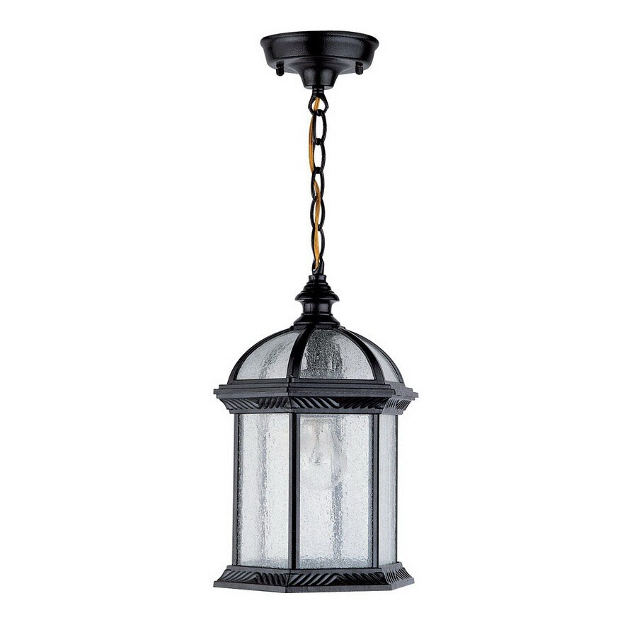 DVI Hexagon 13-in Black Outdoor Pendant Light