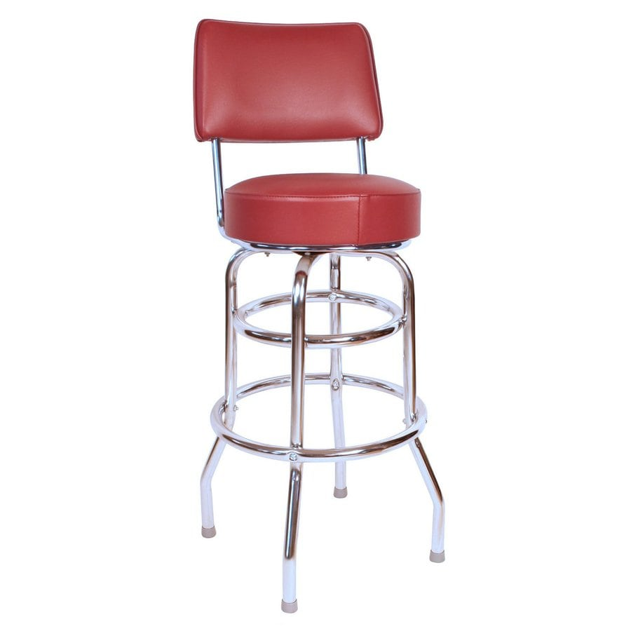 Richardson Seating Floridian Chrome 30-in Bar Stool