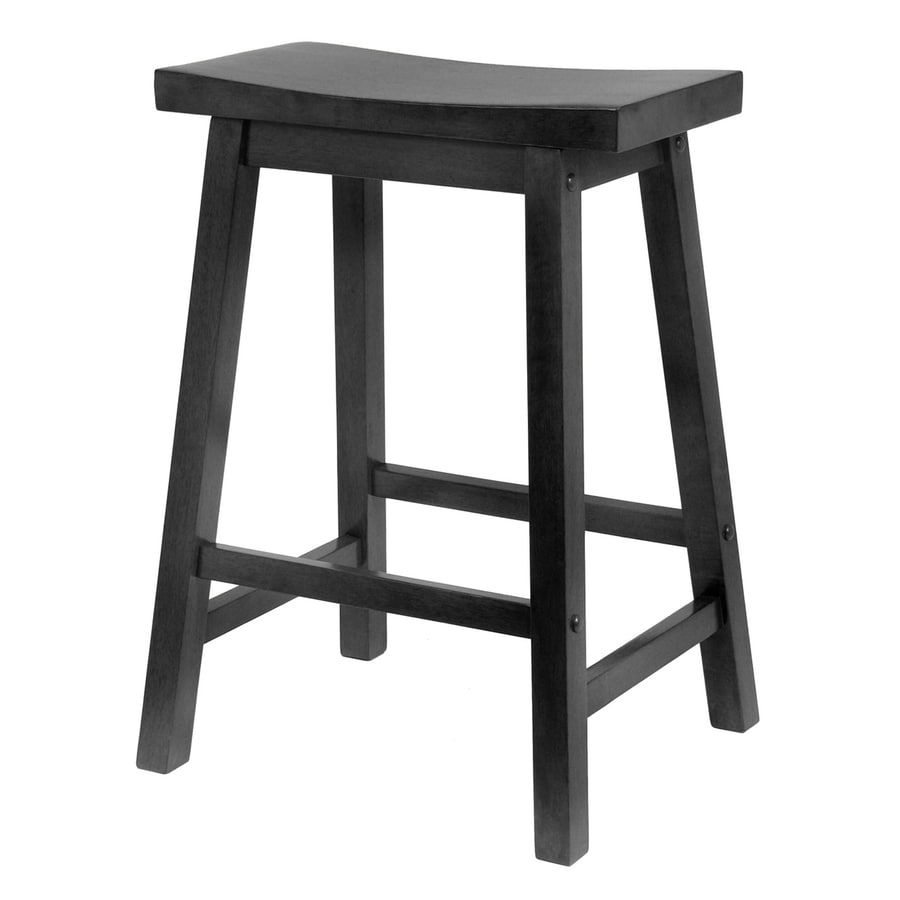 shop winsome wood casual black counter stool at. Black Bedroom Furniture Sets. Home Design Ideas
