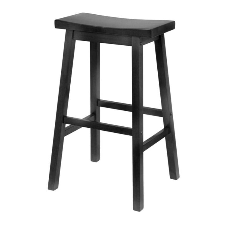 Winsome Wood Casual Black Bar Stool