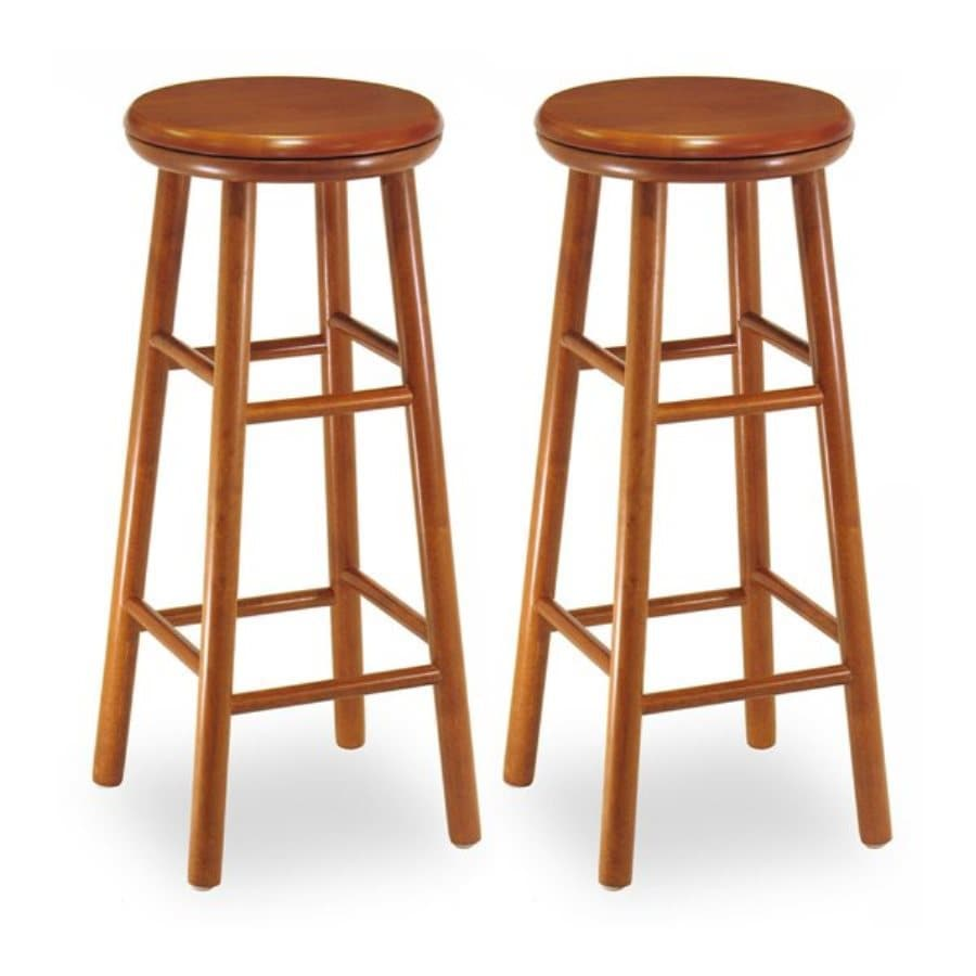 Winsome Wood Set of 2 Cherry Bar Stools