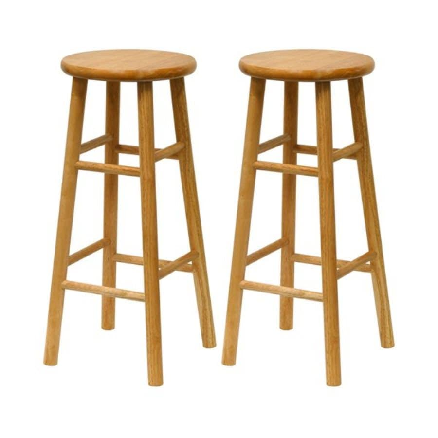 Winsome Wood Set of 2 Natural 30-in Bar Stools