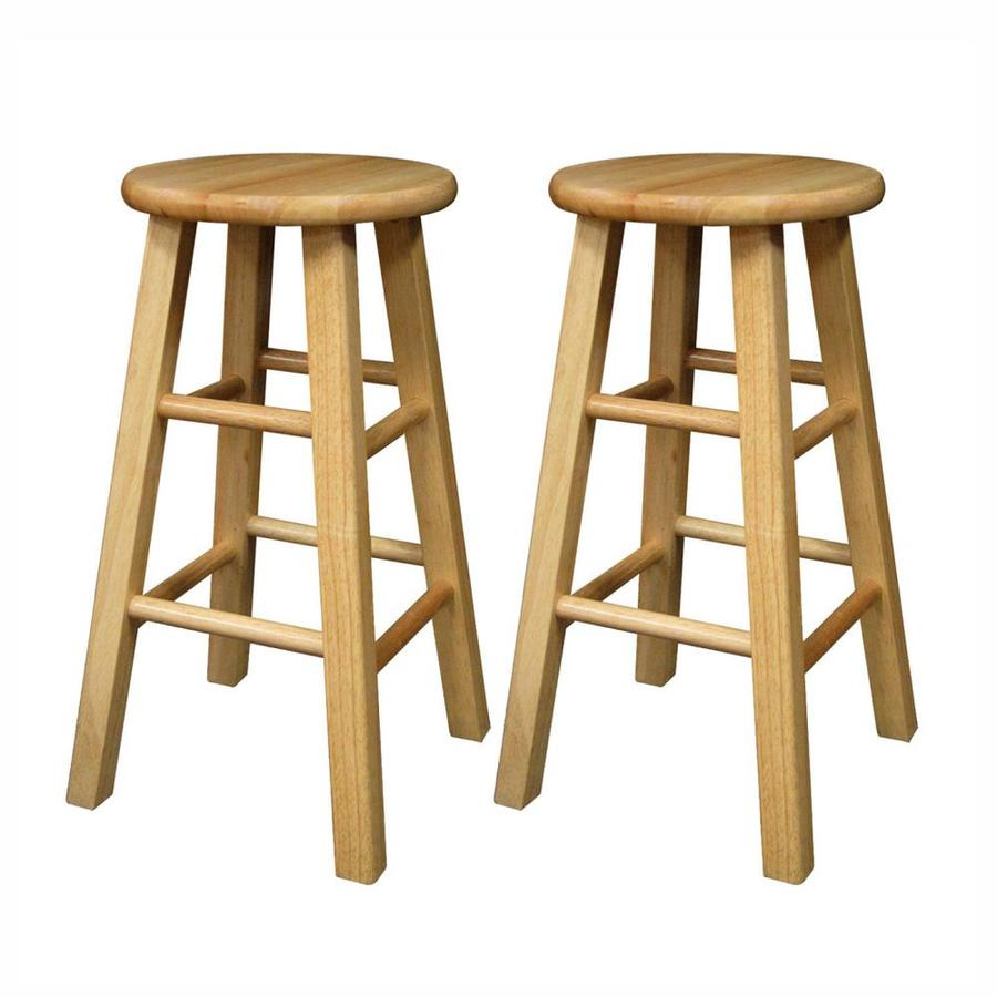Winsome Wood Set of 2 Natural Counter Stools