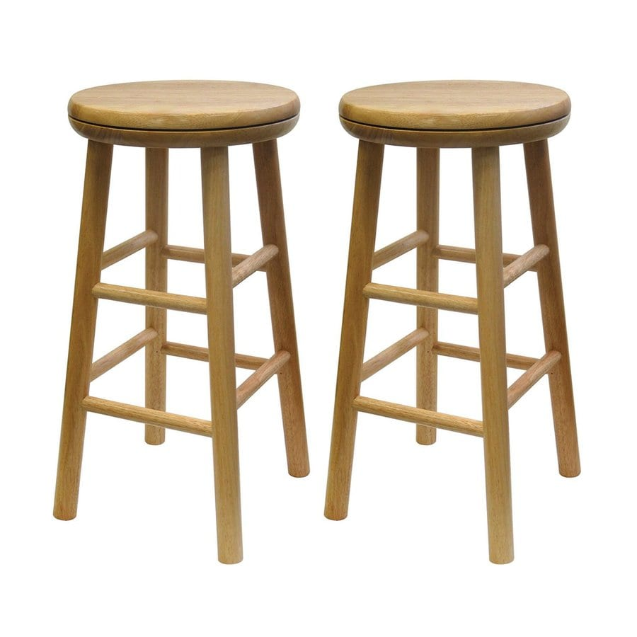 Shop Winsome Wood Set Of 2 Casual Natural Counter Stools At