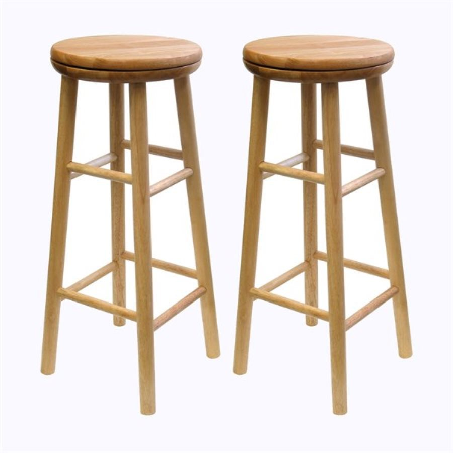 Winsome Wood Set of 2 Natural Bar Stools