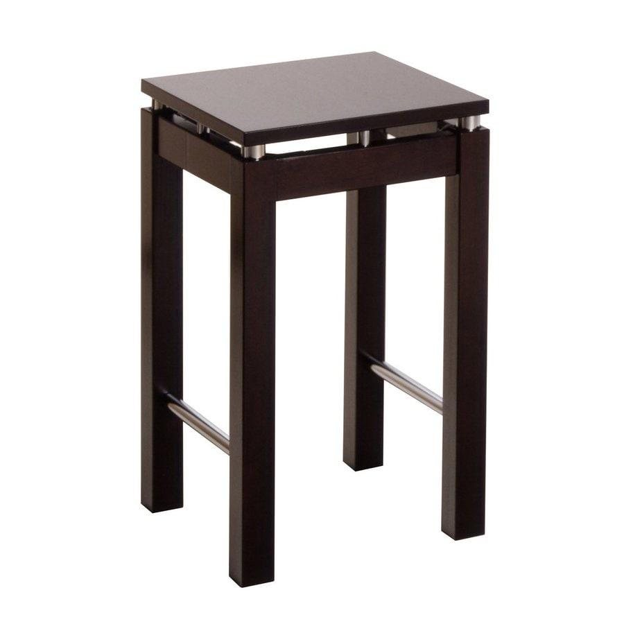 Winsome Wood Chrome/Dark Espresso 24-in Counter Stool