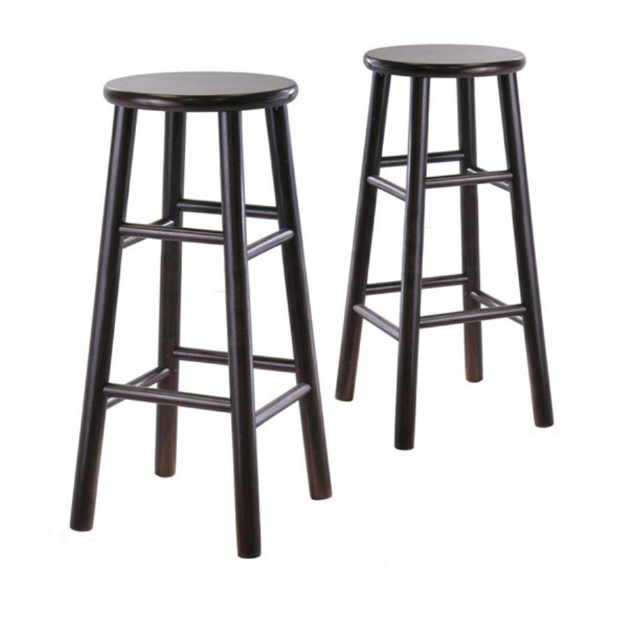Winsome Wood Set of 2 Dark Espresso 30-in Bar Stools