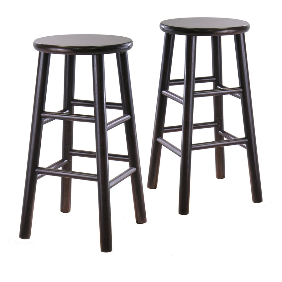 Winsome Wood Set of 2 Dark Espresso 24-in Counter Stools