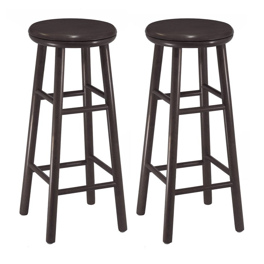 Winsome Wood Set of 2 Dark Espresso Bar Stools