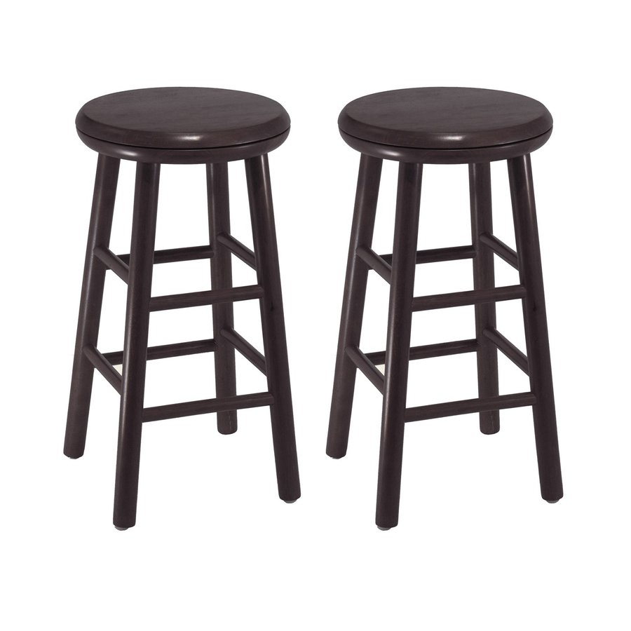 Winsome Wood Set of 2 Casual Dark Espresso Counter Stools