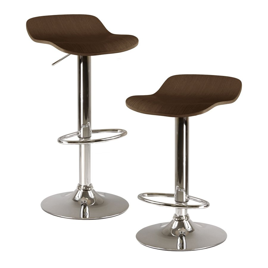 Winsome Wood Set of 2 Cappuccino 30.8-in Adjustable Stools