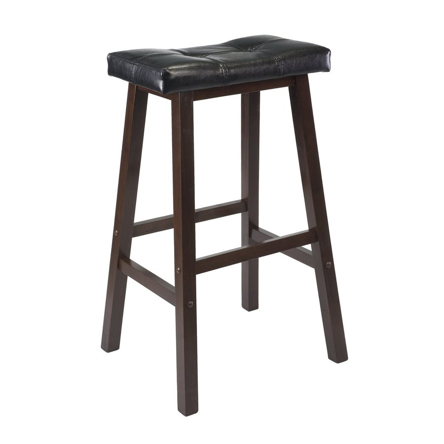 Shop Winsome Wood Casual Antique Walnut Bar Stool At Lowes Com