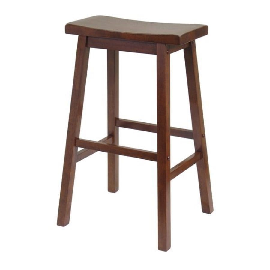 winsome wood antique walnut bar stool