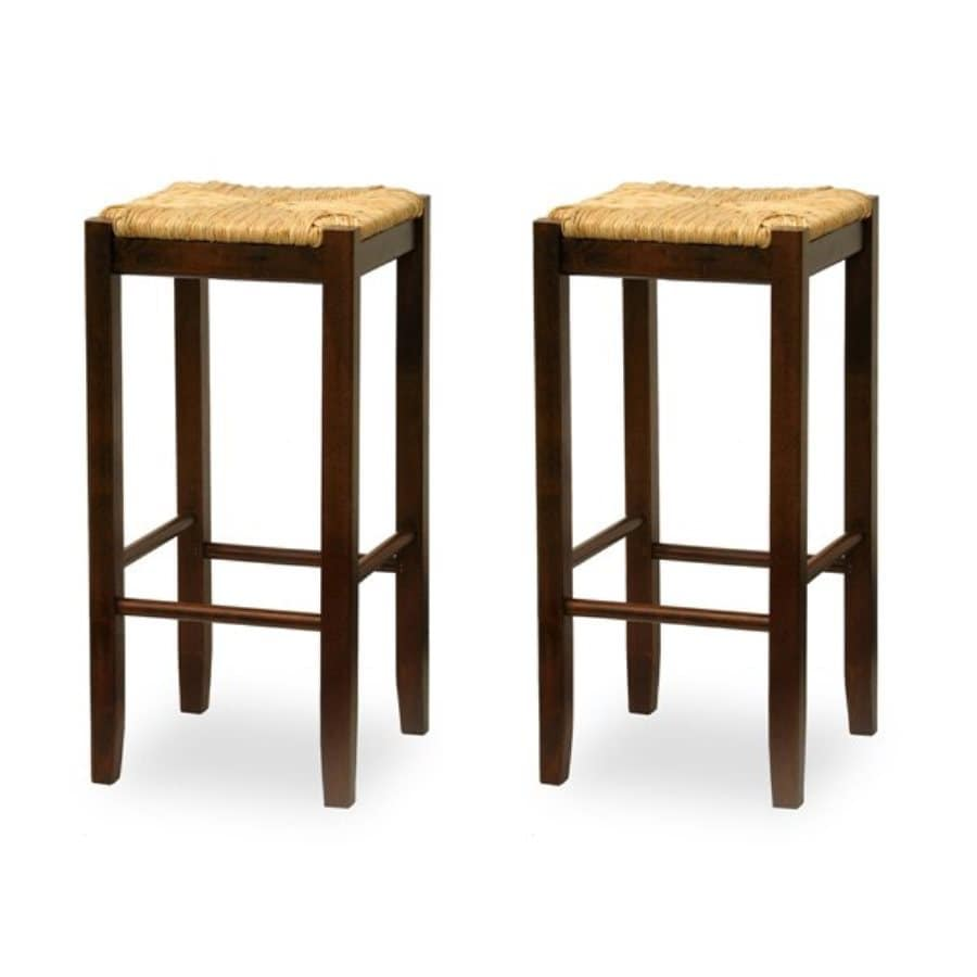 Winsome Wood Set of 2 Antique Walnut Bar Stools