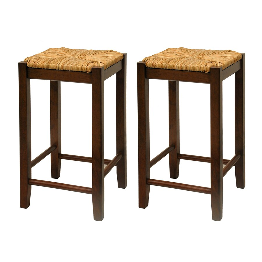 Winsome Wood Set of 2 Antique Walnut Counter Stools