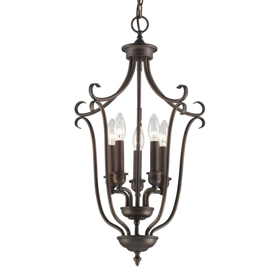 Millennium Lighting Fulton 27-in Rubbed Bronze Vintage Single Cage Pendant