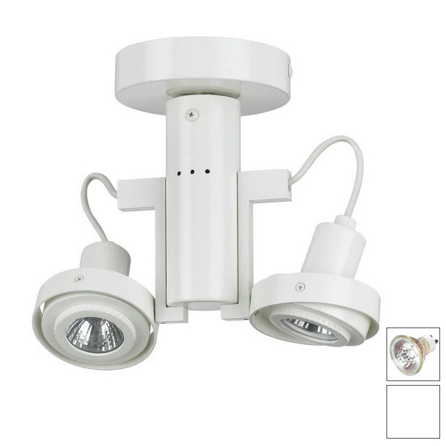 Cal Lighting 2-Light White Flush Mount Fixed Track Light Kit