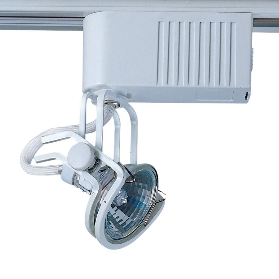 Cal Lighting 1-Light White Gimbal Linear Track Lighting Head