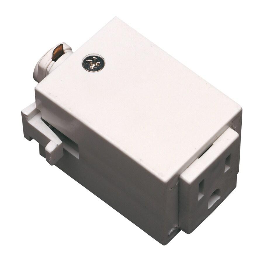 Cal Lighting White Linear Outlet Adaptor