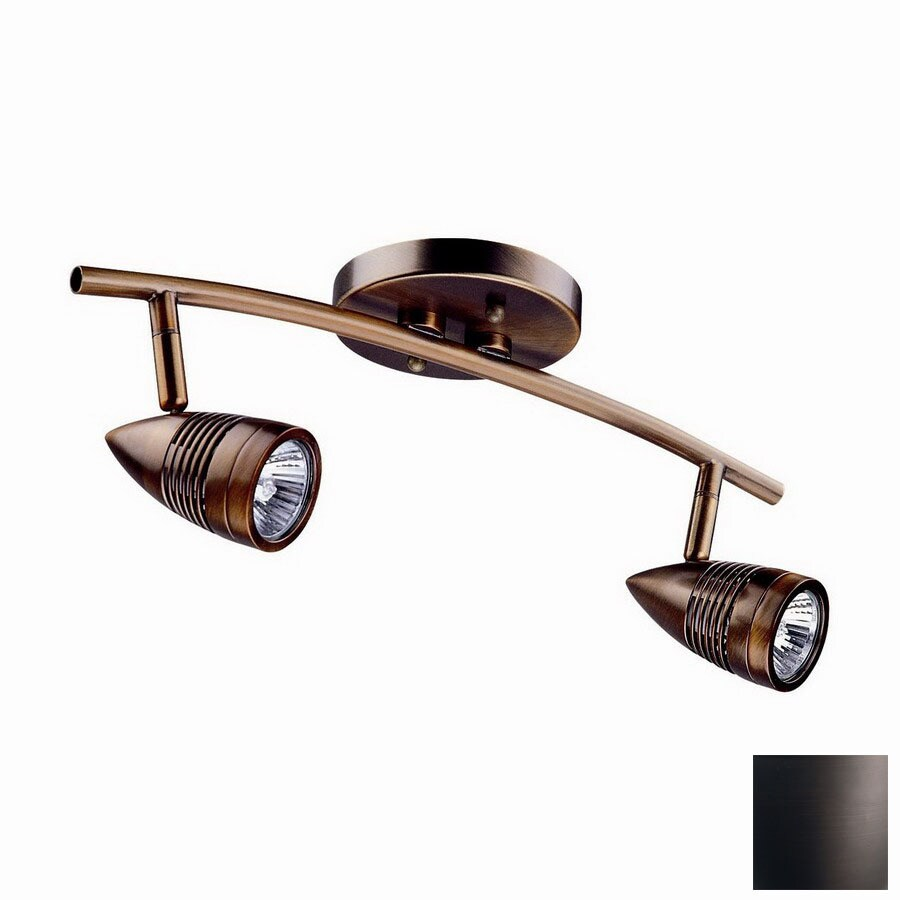 DVI Bullet 2-Light 15-in Oil-Rubbed Bronze Fixed Track Light Kit