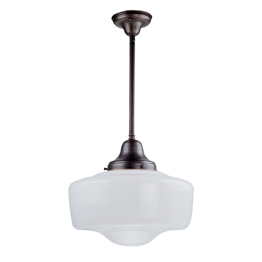 Oil Rubbed Bronze Kitchen Lighting Shop Dvi Schoolhouse 14 In Oil Rubbed Bronze Vintage Single